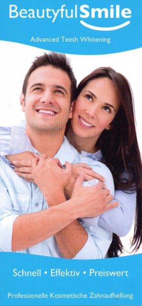 Kunden Flyer Zahnaufhellung