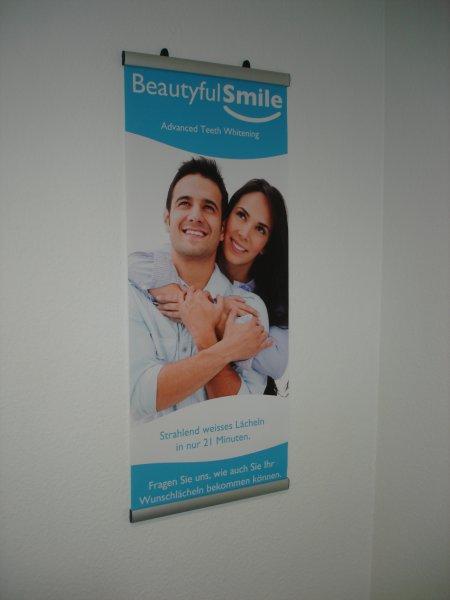 Poster für den Salon Zahnaufhellung